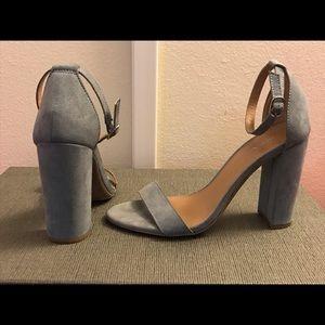 🖤 Merona (Target) grey faux suede sandals 7.5